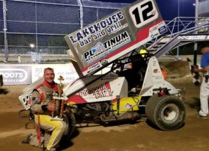 Walter fends off Arenz to capture Remembering Randy Tracy PDTR Sprint Car A main