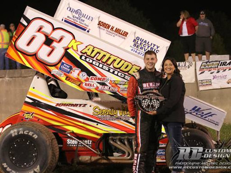 Kevin Karnitz gets 3rd win of the season at Dodge County Fairgrounds