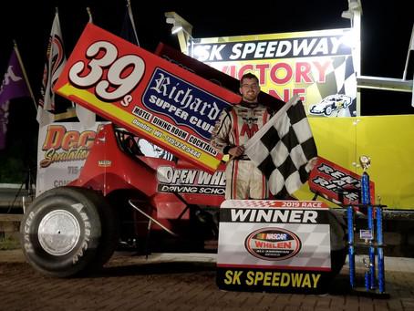 Thiel survives seven cautions to master SK Speedway
