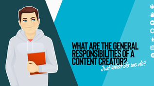 Content Creators – Just what do we do?