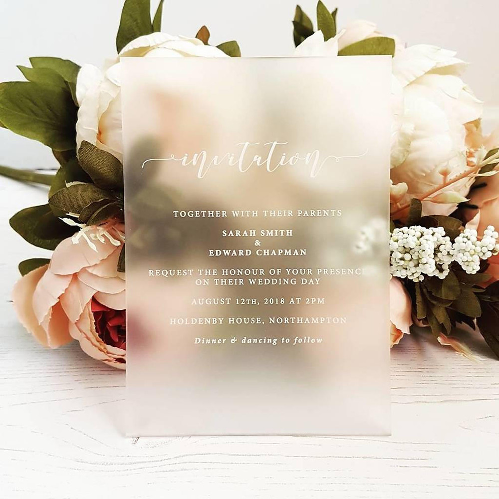 Bespoke Perspex Wedding Invitation