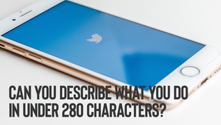 Can you describe what you do in 280 characters?