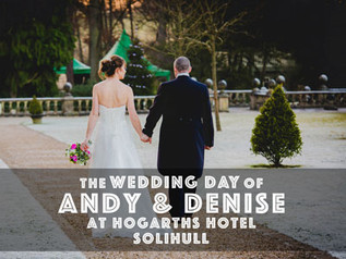 Wedding photography for Denise and Andy at Hogarths Hotel, Solihull