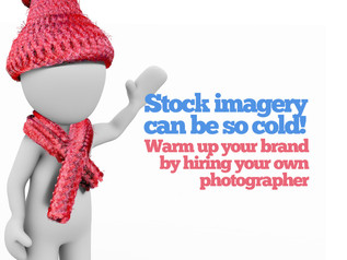 Stock imagery is so cold. Tell your own brands story with YOUR pictures!