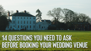 14 questions you need to ask before booking your wedding venue