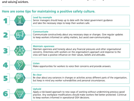 Safety Tips from IOSH, it's a very good way to manage health, environmental and food safety at work.