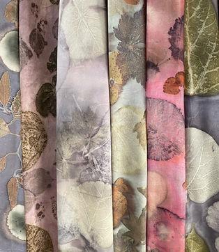 Silk scarves- ecodyed