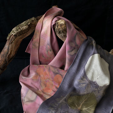 Logwood and lac scarves