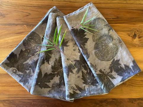 Ecoprinted napkins