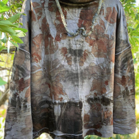 Ecoprinted Upcycled Wool Top