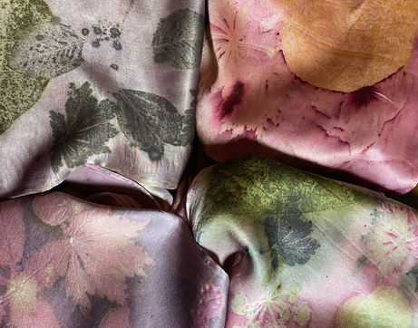 Silk charmeuse experiments with lac