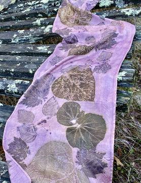 Lac silk scarf