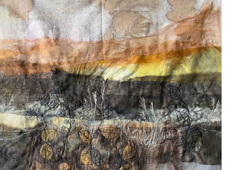 Sundown landscape tapestry
