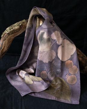 Logwood silk scarf