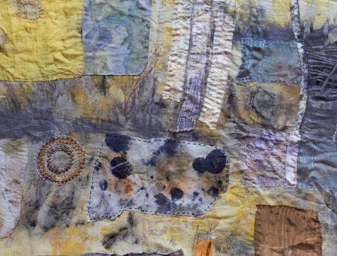Meditation quilt- detail