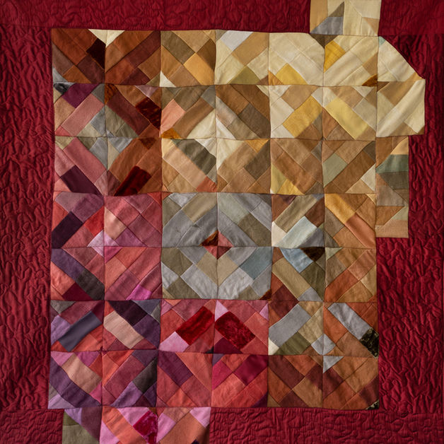 Natural dye illumination quilt