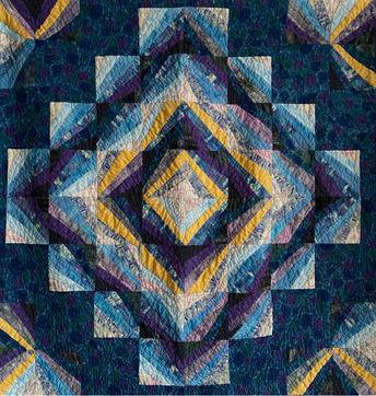 Jeweled vortex quilt