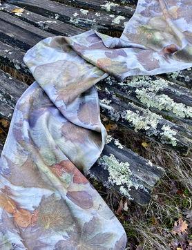 Gallnut silk scarf