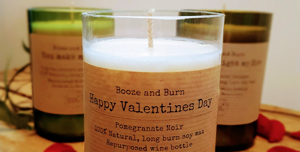 Love Note Wine Bottle Candle