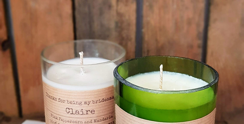 Bridesmaid Soy Candle - Thank you Gift