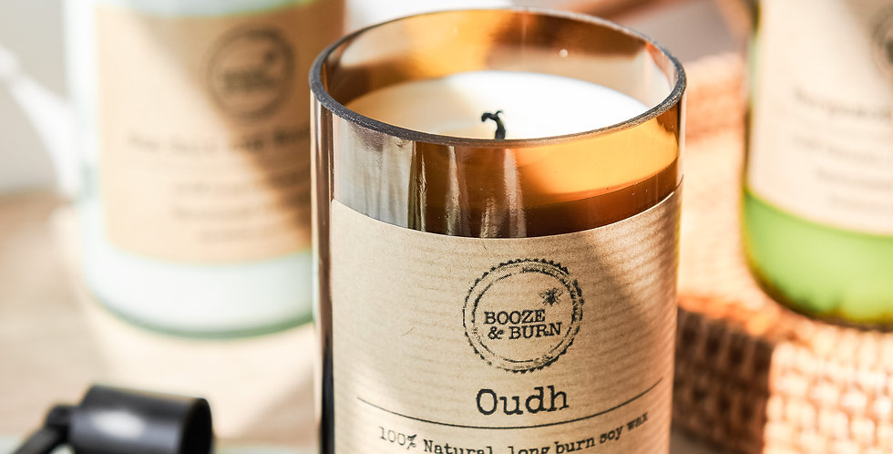 Oudh - Soy Wine Bottle Candle