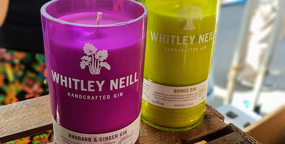 Whitley Rhubarb and Ginger Gin Bottle Candle