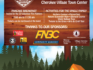 Come Celebrate 100 Years of Camping in Cherokee Village, AR at the Town Center Saturday 17, Septembe
