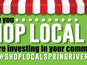 #ShopLocalSpringRiver