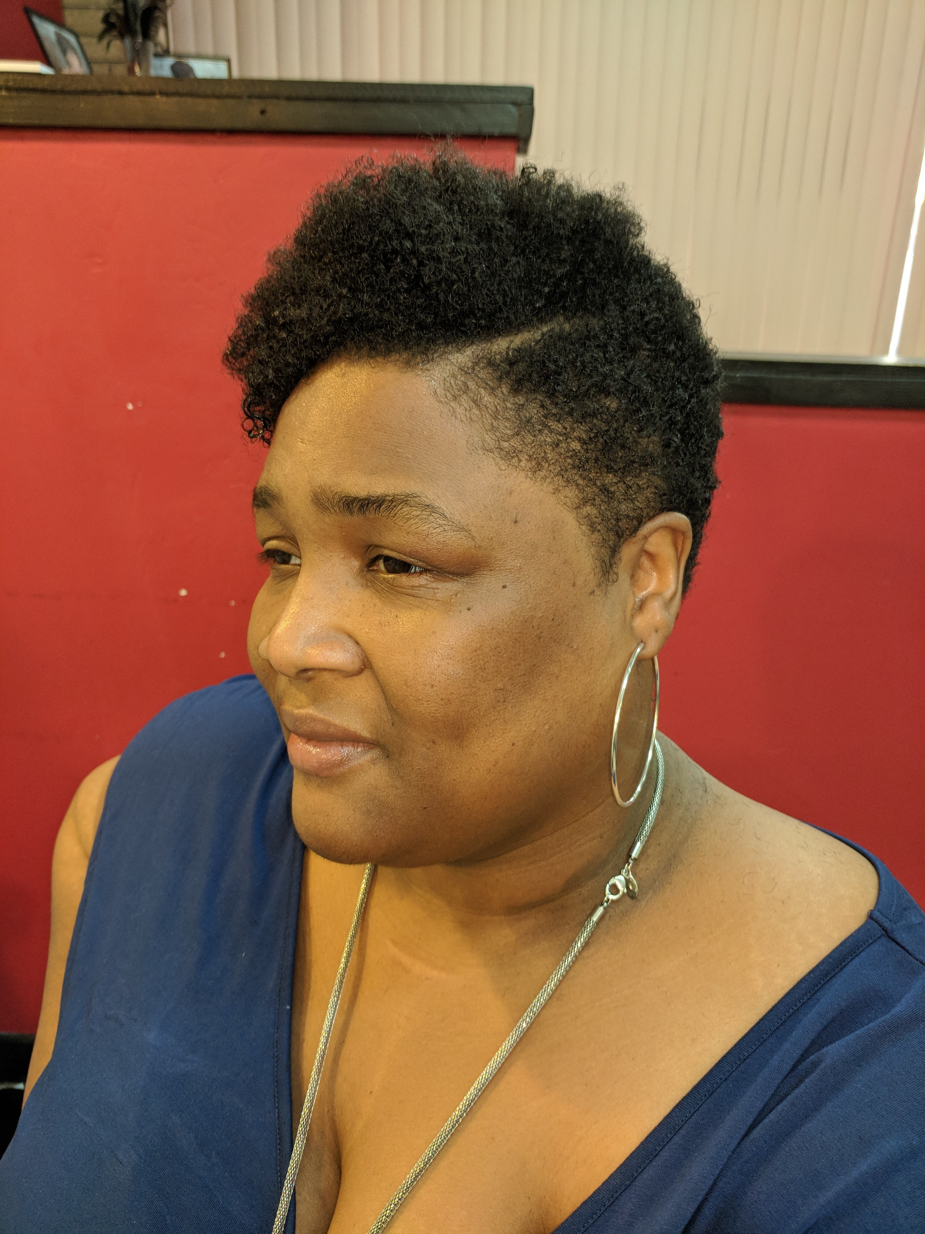 Big chop Tapered Cut and Style