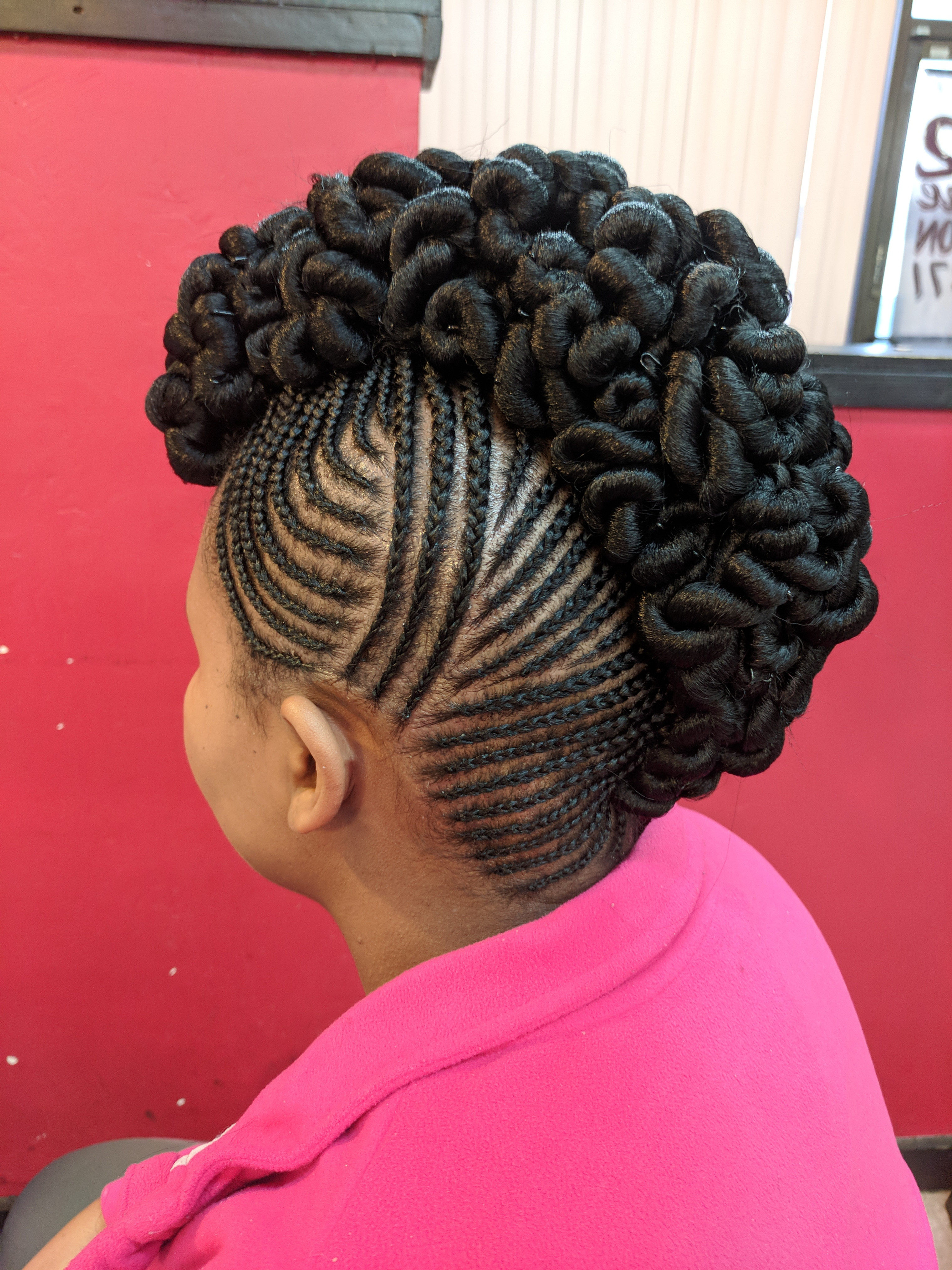 Braid Up Do with ext added