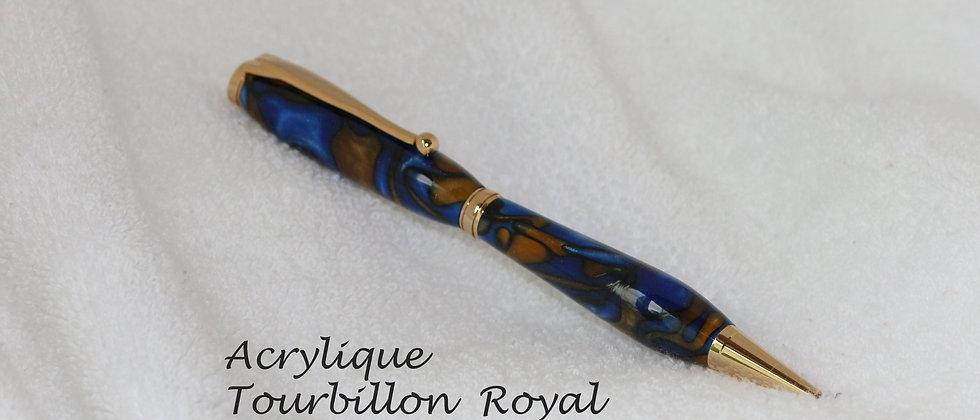 Stylo-bille - Acrylique - Tourbillon royal & Or