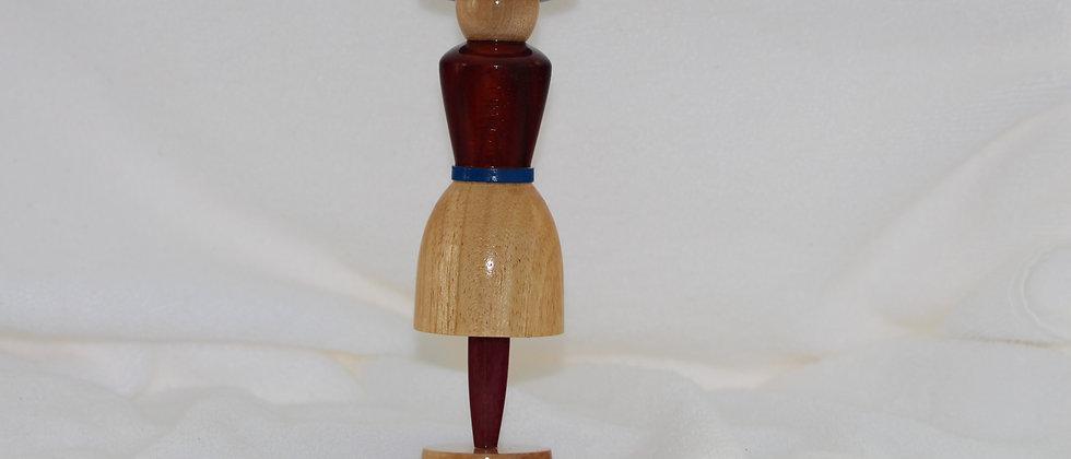 Figurine femme  - Koto + Padouk + Érable