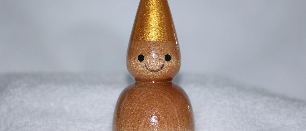 Décoration Noël - Merisier +  Chapeau doré