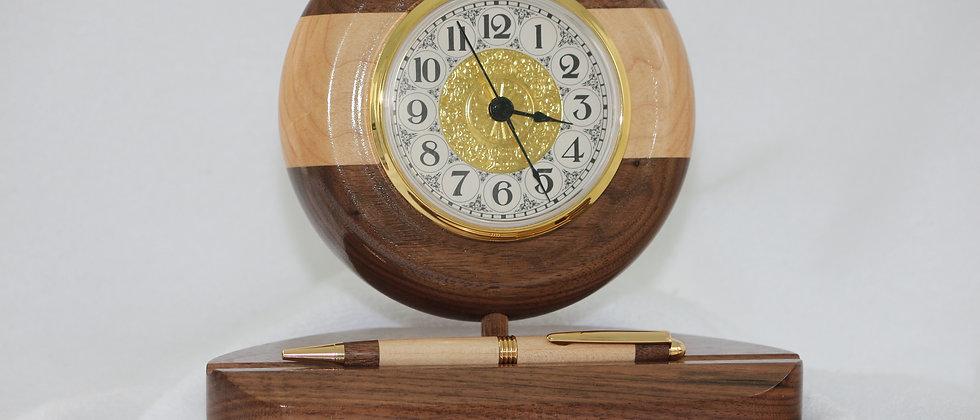 Horloge + Stylo streamline -Noyer noir & Érable