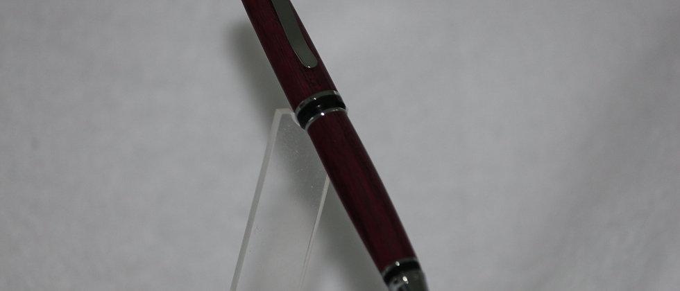 Stylo-bille - Amarante & Chrome