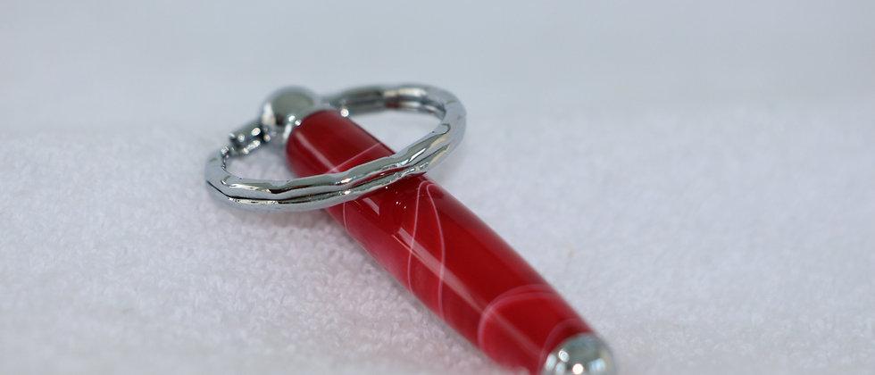 Porte-clés - Acrylique - Fraises et crème  & Chrome