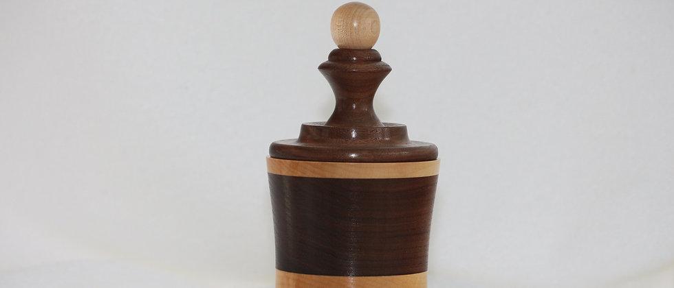 Boîte décorative avec couvercle - Noyer noir & Érable