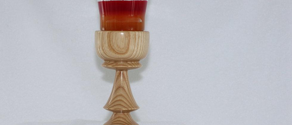Chandelier - Frêne Chandelle parfumée rouge et or