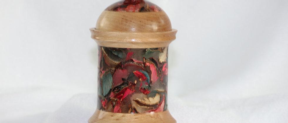 Boîte décorative avec couvercle - Merisier & Résine