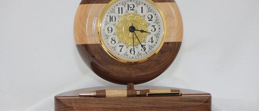 Horloge+ Stylo slimline -Noyer noir &  Érable