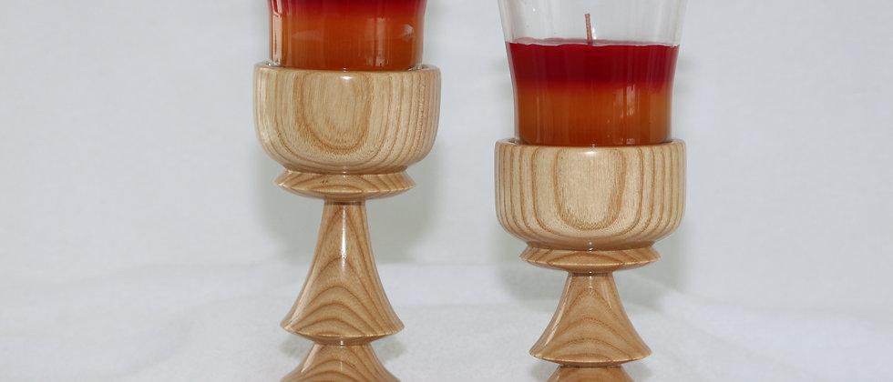 Chandelier - Frêne Chandelle parfumée rouge et