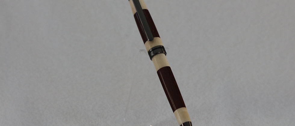 Stylo-bille - Laminé - Palissandre des caraïbes  & Titane noir