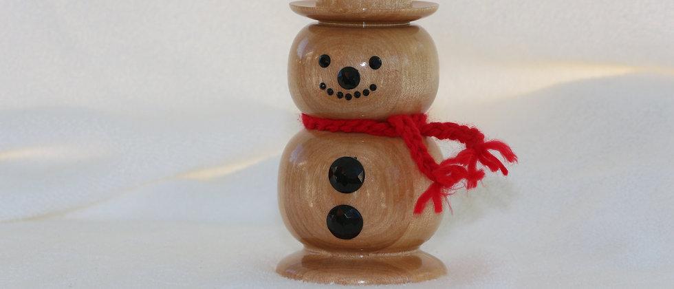 Bonhomme de neige - Merisier - acc. rouge et noir