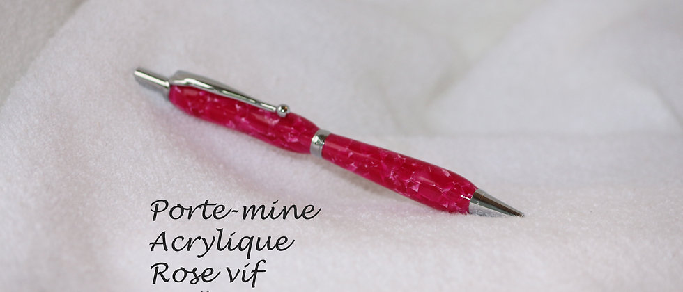 Porte-mine - Acrylique - Rose vif & Chrome