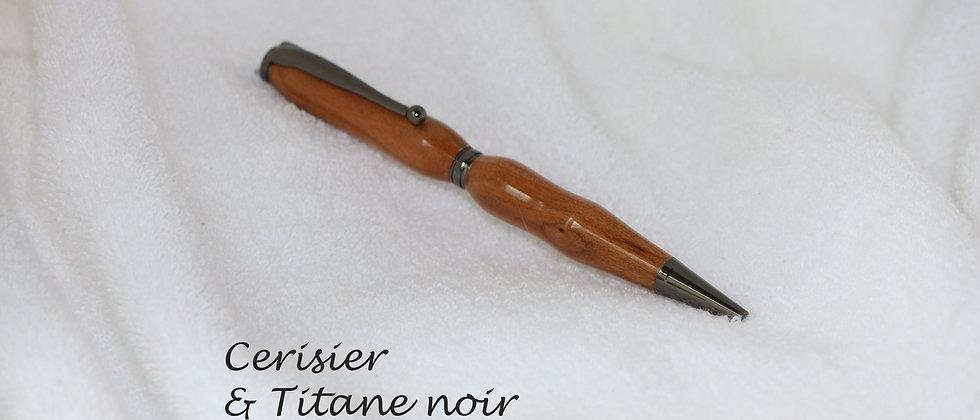 Stylo-bille - Cerisier & Titane noir