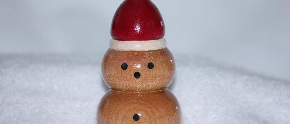 Décoration Noël - Merisier +  tuque  rouge et blanche