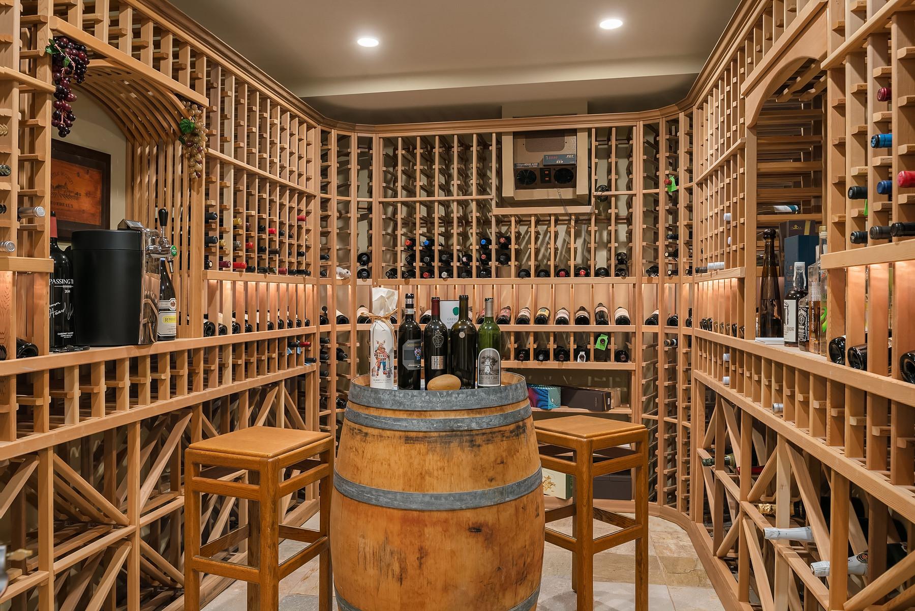 Conditioned wine room