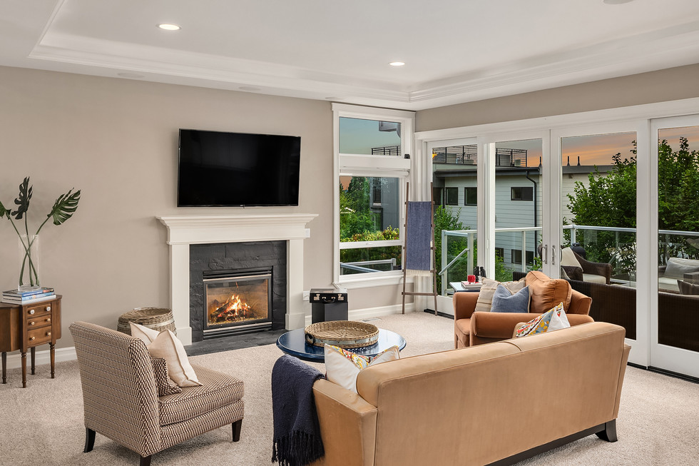Great room and deck