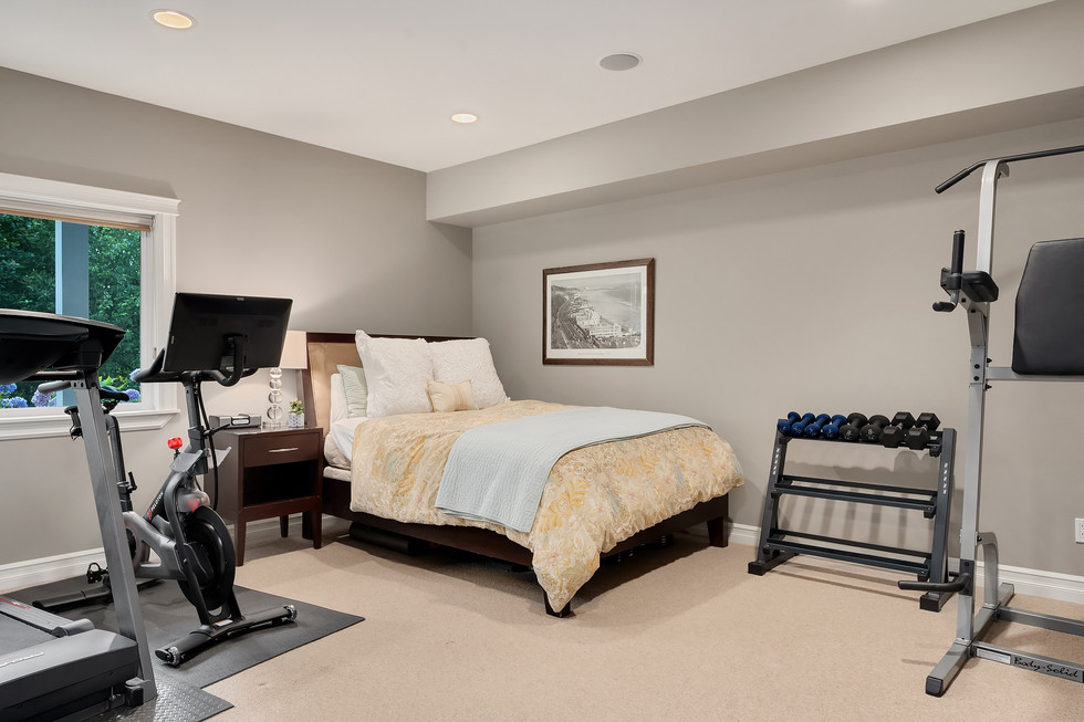 Lower level 5th bedroom/flex room