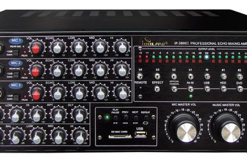 IDOLpro IP-3800 II 1300W Professional Digital Echo Mixing Amplifier With Optical